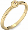 Goldring Citrin 585 + inkl. Luxusetui + PORTOFREI Citrin Ring Gold Citrinring Gold (Gelbgold 585) - Love Affair Amoonic Schmuck
