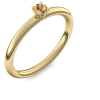 Goldring Citrin 585 + inkl. Luxusetui + PORTOFREI Citrin Ring Gold Citrinring Gold (Gelbgold 585) - Grace Amoonic Schmuck