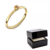 Goldring Citrin 585 + inkl. Luxusetui + PORTOFREI Citrin Ring Gold Citrinring Gold (Gelbgold 585) - Concinnity Amoonic Schmuck