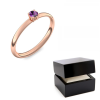 Rotgold Ring Amethyst 585 + inkl. Luxusetui + PORTOFREI Amethyst Ring Rotgold Amethystring Rotgold (Rotgold 585) - Concinnity Amoonic Schmuck