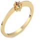 Goldring Citrin 750 + inkl. Luxusetui + PORTOFREI Citrin Ring Gold Citrinring Gold (Gelbgold 750) - Style Amoonic Schmuck