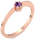 Rotgold Ring Amethyst 750 + inkl. Luxusetui + PORTOFREI Amethyst Ring Rotgold Amethystring Rotgold (Rotgold 750) - Style Amoonic Schmuck