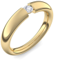 Spannring Gold Ring Diamant 585 + inkl. Luxusetui + PORTOFREI Diamant Ring Gold Diamantring Gold (Gelbgold 585) - Tension Amoonic Schmuck