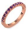 Memoire ring Rotgold Ring Amethyst 750 + inkl. Luxusetui + PORTOFREI Amethyst Ring Rotgold Amethystring Rotgold (Rotgold 750) - Classiness Amoonic Schmuck
