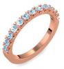 Memoire ring Rotgold Ring Aquamarin 750 + inkl. Luxusetui + PORTOFREI Aquamarin Ring Rotgold Aquamarinring Rotgold (Rotgold 750) - Classiness Amoonic Schmuck