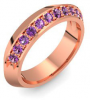 Memory Ring Rotgold Ring Amethyst 585 + inkl. Luxusetui + PORTOFREI Amethyst Ring Rotgold Amethystring Rotgold (Rotgold 585) - Timeless Amoonic Schmuck