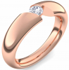 Spannring Rotgold Ring Zirkonia 585 + inkl. Luxusetui + PORTOFREI Zirkonia Ring Rotgold Zirkoniaring Rotgold (Rotgold 585) - Chasteness Amoonic Schmuck