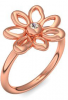 Blumenring Ring Blume Blumig Rotgold Ring Rauchquarz hochwertig vergoldet! + inkl. Luxusetui + PORTOFREI Rauchquarz Ring Rotgold vergoldet Rauchquarzring Rotgold vergoldet Vergoldeter Ring (Rotgold vergoldet) - Say it with flowers Amoonic Schmuck