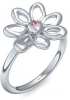 Blumenring Ring Blume Blumig Silber Ring Turmalin pink 925 + inkl. Luxusetui + PORTOFREI Turmalin pink Ring Silber Turmalin pinkring Silber (Silber 925) - Say it with flowers Amoonic Schmuck