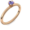 Rosegold Ring Tansanit 585 + inkl. Luxusetui + PORTOFREI Tansanit Ring Rosegold Tansanitring Rosegold (Rosegold 585) - Celebrity Amoonic Schmuck