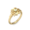 Ring Schneeflocke Gold Ring Diamant 585 + inkl. Luxusetui + PORTOFREI Diamant Ring Gold Diamantring Gold (Gelbgold 585) - Diamond Dust Amoonic Schmuck