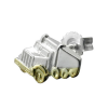 SIGO Ohrstecker, Single-Truck bicolor Silber 925