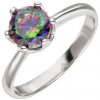 SIGO Damen Ring 925 Sterling Silber 1 Zirkonia multicolor Silberring