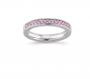 Laura Coon Ring 925 Silber Zirkonia Pink, 54 / 17,2