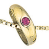 Taufring 333 Gelbgold 1 roter Rubin