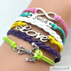 Armband ANKER & LOVE & FAITH multicolour im Schmuck Beutel