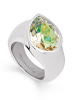 Tamaris Amy Ring A00210273 Gr. 54 Tropfen Stahl Luminous Green