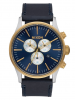 Sentry Chrono Leather Herrenuhr Nixon blau