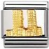 Nomination Classic - RELIEF MONUMENT Edelstahl und 18K-Gold (World Trade Center-Turme)