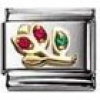 Nomination Classic - NATURE Edelstahl, 18K-Gold und Cubic Zirc. (Tulpe ROT)