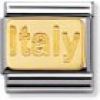 Nomination Classic - ENGRAVED SIGNS Edelstahl und 18K-Gold (Plakette Italy)
