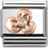 Nomination Classic - Composable Classic - 9k Rosegold, Cubic Zirkonia - Blume - 430305/02