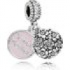 Pandora Charm - Sterlingsilber, Emaille, Cubic Zirkonia - Charm-Anhänger - Sweet Mother - 791285CZ