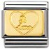 Nomination Classic - ENGRAVED SIGNS Edelstahl und 18K-Gold (Plakette Ti amo)