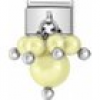 Nomination Charm - Perle in Gelb - 030609/05