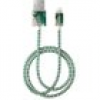 IDeal of Sweden Handyzubehör - Fashion Cable - Golden Jade Marble - IDFCL-98