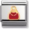 Nomination Classic - DAILY LIFE Edelstahl, Email und 18K-Gold (Tasche ROT)