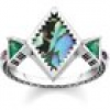 Thomas Sabo Ring - Glam and Soul - Zick Zack Abalone Perlmutt - TR2232-991-7
