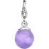 Ti Sento Charm 925 Silber Light Purple Ball S