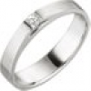 SIGO Damen Ring 950 Platin matt 1 Diamant Princess Schliff 0,07 ct. Platinring
