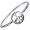 PEACE Sterling Silber Stacking Ring