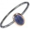 TWO TONE Amethyst Stacking Ring