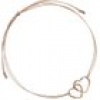 DOUBLE HEARTED Armband BEIGE